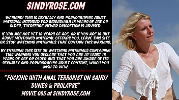 Sindy Rose Fucking with anal terrorist on sandy dunes & prolapse
