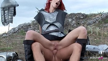 Games of Thrones Parody with Redhead Teen Marsha Lord Anal Fuck Public