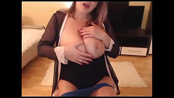 Sexy girl sucking and teasing big natural boobs live cam sho