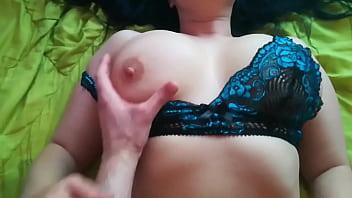 Hard fuck girl masturbates pussy