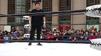 2013.1.27Ntw新台灣娛樂摔角聯盟  鬥魚 Vs Apple Miyuki アップルみゆき (大阪職摔)