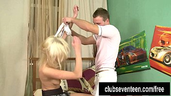 Blonde teen Dolly gets ass fucked thumbnail