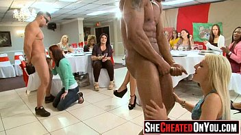 53 Strippers get blown at cfnm sex party  48