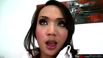 """Cock hungry ladyboy deepthroats and wanks thick cock in POV <span class=""""duration"""">11 min</span>"""