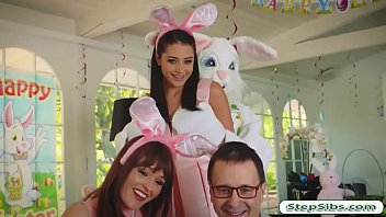 Avi Love gets her hairy muff drilled by horny easter bunny 5 min