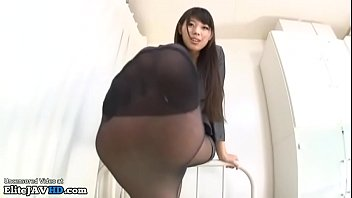 Japanese interracial movies - Jav idol gives a nylon footjob - full at elivejavhd.com