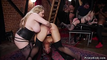Slaves anal fisted and group banged
