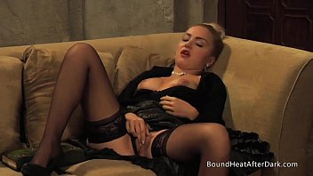 Two Lesbian Slaves Stripteasing And Kissing In Front Of Madame 4 min