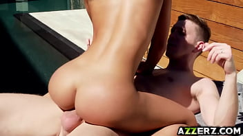 Swim and fuck with gorgeous babe Amia Miley