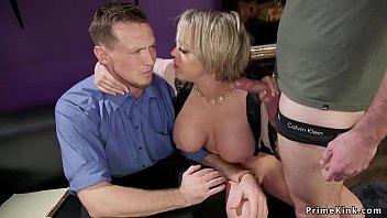 Huge tits wife anal bangs husband threesome 5 min