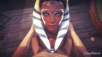 Starwars Hentai POV Ahsoka 3D 4D – blowjob and fucked cowgirl stily with creampie