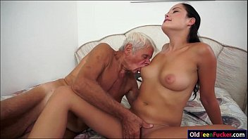 Pussy cat dollys - Dolly diore sucks off a grandpas cock and sits on his face