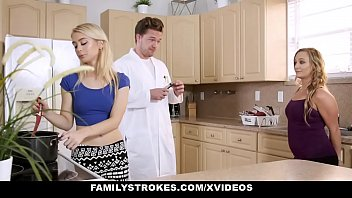 FamilyStrokes - Hot Sister And Mom Tricked And Fucked By StepBro