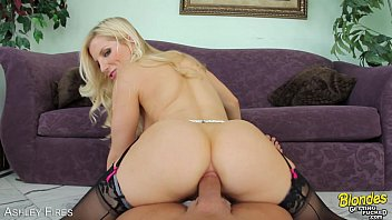 Big ass and large cock Blonde ashley fires takes a large prick