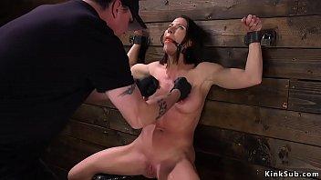 Slave gets dp toyed in device bondage