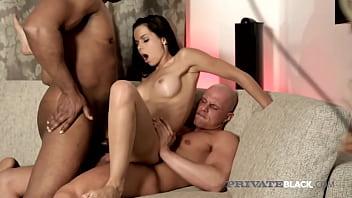 PrivateBlack - Excited Busty Ferrera Gomez Enjoys Interracial DP 3Way!