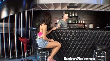 Petite amateur babe banged at the bar