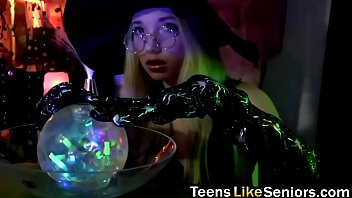 Young blonde witch makes an older man fuck her moist hungry vagina porno izle
