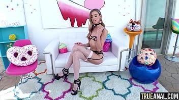 TRUE ANAL Skinny blonde Haley Reed needs more anal