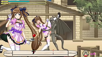 Cute girl having sex with monsters men in twintail magic action hentai ryona game new gameplay