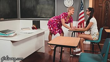 GIRLSWAY Ryan Keely Shows Her Student Eliza Ibarra The Benefits Of Being A Nerd 13 min