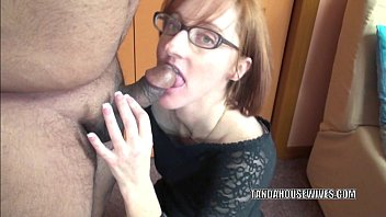 Horny housewife Layla Redd is blowing a dude she just met thumbnail