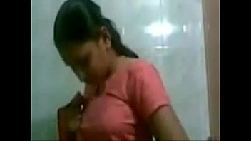 Girl Changing Her Dress In Bathroom
