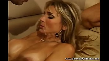 Sexy milfs share cock Swinger wife two cocks