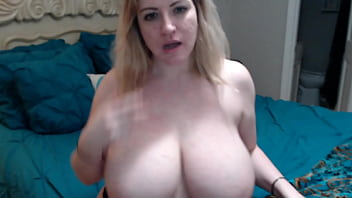 Blonde milf with huge tits