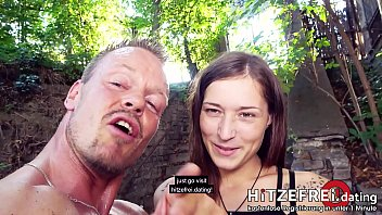 OUTDOOR Fuck  Teen Mina's cunt filled with creampie  German-style dessert! Hitzefrei.dating