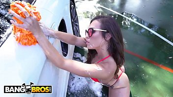 BANGBROS - Kelsi Monroe Twerks Her Big Ass While Washing A Car Then Takes Dick From Rome Major Image