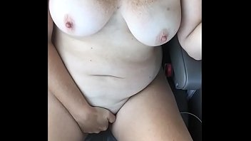 Real Amateur Housewife Stripping And Masturbating On The Interstate For Truckers