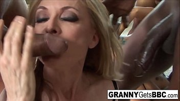 Both Nina and Trina get DP'd in this hot interracial orgy