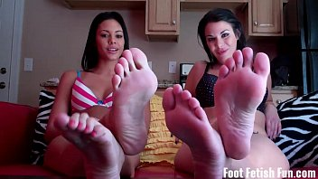 Worship our feet and suck on our toes