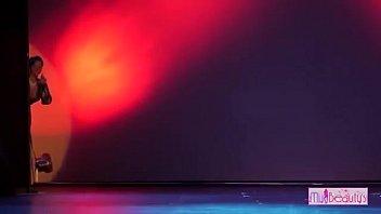 Super hot  dress removing dance on stage
