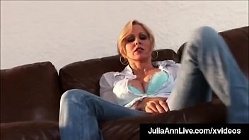 Self Pleasuring Busty Milf Julia Ann Orgasms Dildo Drilling!