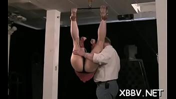 Sex-starved girlie is masturbating her