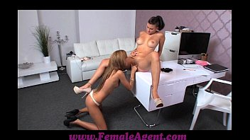 FemaleAgent Amazing first lesbian casting for gullible beauty thumbnail