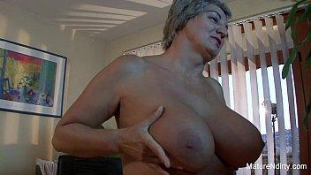 Sluts fucking on ship - Mature slut gets cum on her huge tits