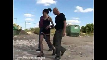 Algerian pornstar takes thirty guys for a wild ride in outdoor fuck-fest (Djaya aka Chéliane)!