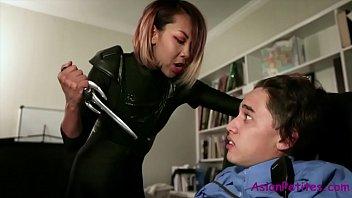 Asian Thief Fucks Lucky Security- Kimberly Chi