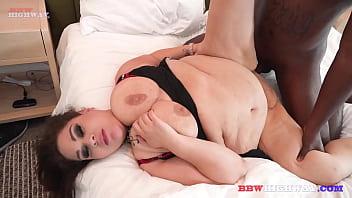 Busty Milf Takes 2 Black Cocks