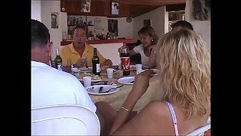 Basshunter orgy video - At lunch table a dinner turns into an orgy