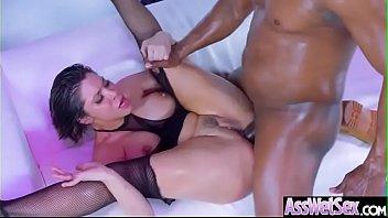 (Aleksa Nicole) Big Oiled Ass Girl Enjoy Deep Anal Intercorse clip-04