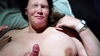 Bbw wife titty fucked and huge cumshot