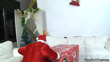 Slut Donna Bell getting fucked in the Ass hard on Christmas thumbnail