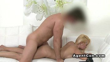 Fake naked audition Blonde amateur poses nakes in casting