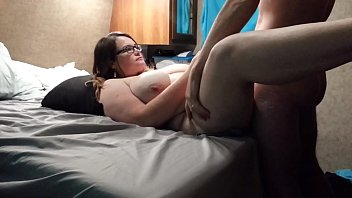 Bbw huge tit wife fucked hard and cum on face, tits and belly 2