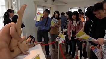Dick art - Fucking japanese teens at the art show