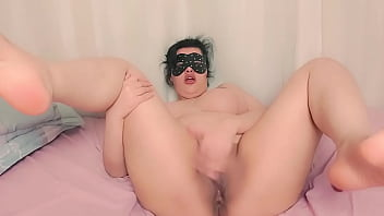 Fat Woman Plays With Her Hairy Pussy